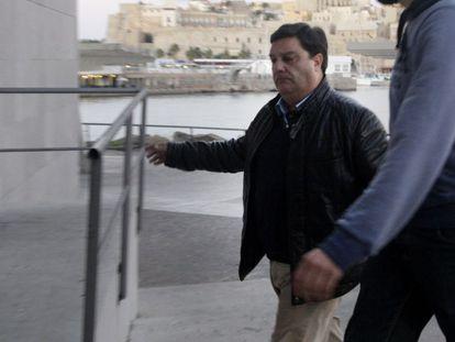 El viceconsejero de Festejos, Francisco Díaz, llega a los juzgados tras ser detenido en enero.