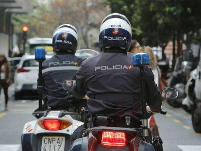 Policías en una imagen de archivo.