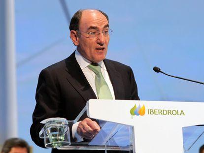 Ignacio Sánchez Galán, en la junta de accionistas de Iberdrola de 2020.