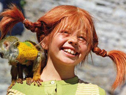 Una imagen de la adaptación a televisión de las aventuras de Pippi Calzaslargas.