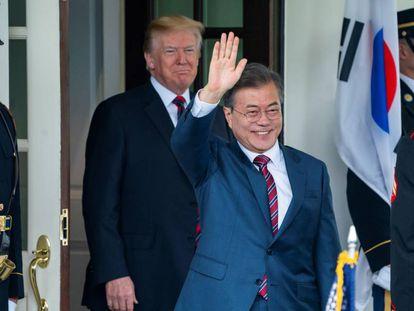 El presidente surcoreano durante su reunión con Trump en la Casa Blanca