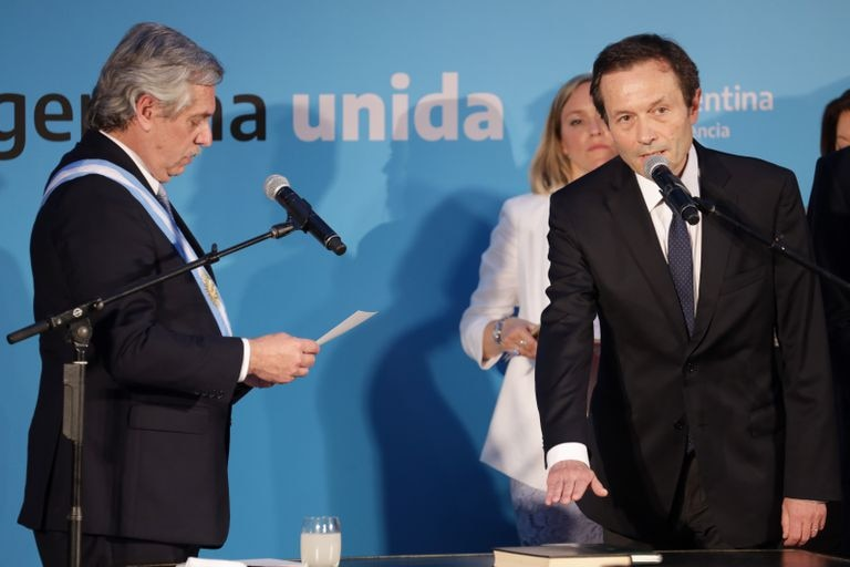 Alberto Fernández y Gustavo Béliz, en 2019.