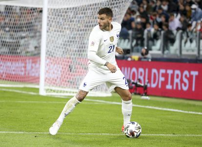 Lucas Hernández, el 7 de octubre en un partido con la selección francesa en Turín (Italia).