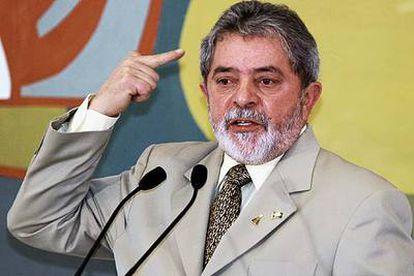 El presidente brasileño, Luiz Inácio Lula da Silva, en un acto en Brasilia el año pasado.