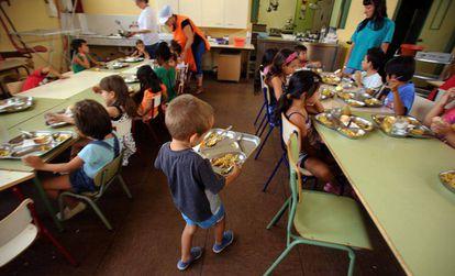 Un comedor infantil de verano en España.
