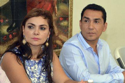 José Luis Abarca y su esposa, María de los Ángeles Pineda