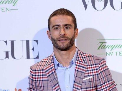 Pelayo Diaz en la exposición sobre Manolo Blahnik, el pasado martes, en el hotel Ritz de Madrid.