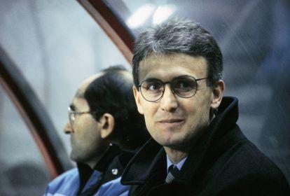 El técnico Benito Floro durante su etapa en el Real Madrid.