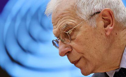 Josep Borrell, durante un pleno del Parlamento Europeo el pasado martes.