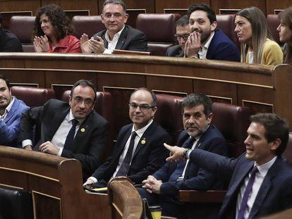 Intervención del líder de Ciudadanos, Albert Rivera, en el Congreso, el pasado 21 de mayo.