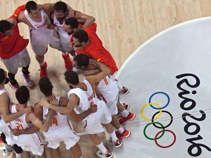 La piña española celebra el pase a semifinales