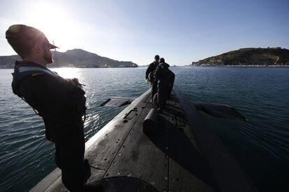 El submarino 'Tramontana', atracado en el puerto de Cartagena el pasado 26 de febrero.