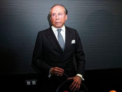 José María Ruiz Mateos, en una rueda de prensa del Grupo Nueva Rumasa, en 2011.
