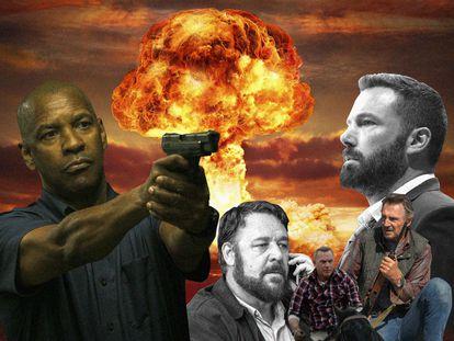 """Denzel Washington, Russell Crowe, Kevin Costner, Liam Neeson o Ben Affleck son algunos de las estrellas del Hollywood contemporáneo que se han apuntado a la corriente de """"pelis para padres"""", un género que en la pandemia se ha hecho más grande."""