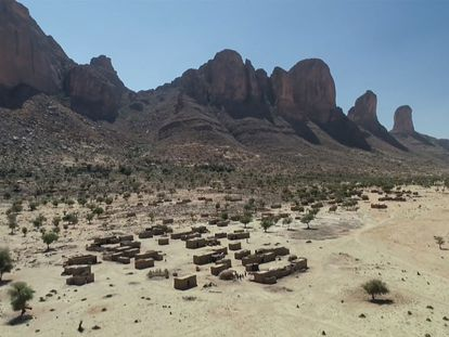 El lugar del ataque francés en Malí en una imagen de vídeo tomada a finales de enero.