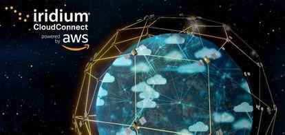Imagen difundida por las compañías Iridium y Amazon tras la alianza.