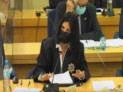 La abogada del Estado Rosa María Seoane, durante su intervención en el juicio por los 'papeles de Bárcenas' este jueves.