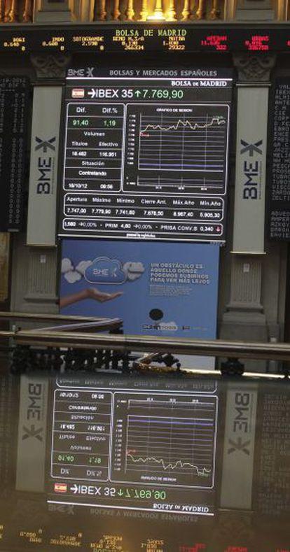 Panel informativo en el parqué madrileño