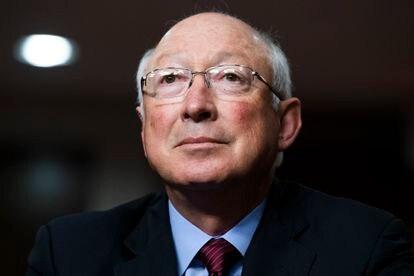 Ken Salazar durante la audiencia de confirmación del Comité de Relaciones Exteriores del Senado, el pasado 28 de julio.