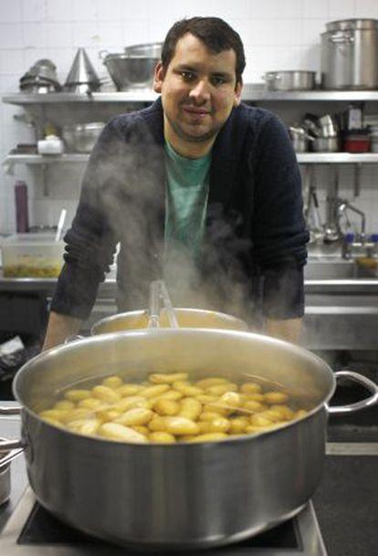 El cocinero chileno Juan Pablo Mellado.
