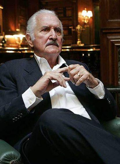 Carlos Fuentes, ayer en Madrid.