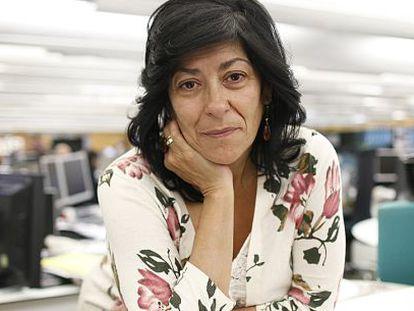 Almudena Grandes en la redacción de El PAÍS.