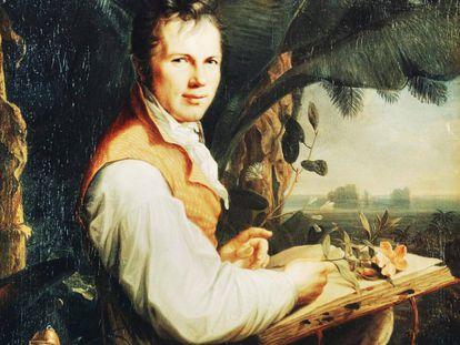 Un retrato de Alexander von Humboldt, realizado por Friedrich Georg Weitsch.