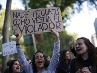 Manifestación en mayo de 2018 por la sentencia de La Manada.