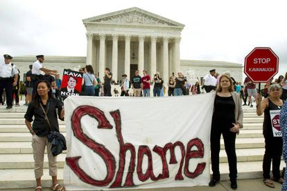 Protesta de este sábado frente al Tribunal Supremo, en Washington.