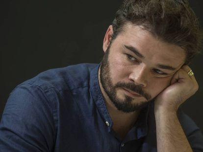 Gabriel Rufián, durante la entrevista