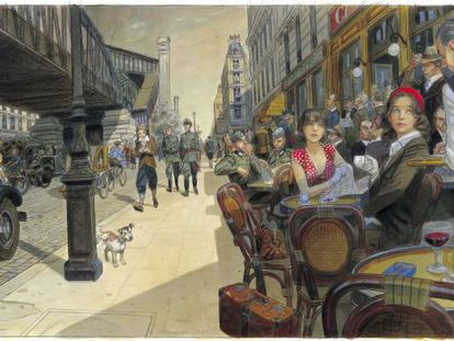 Una ilustración original de 'Jeanne et Cécile', obra de Jean-Pierre Gibrat,  que llegó a 67.500 euros.
