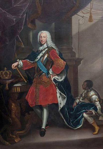 Carlos VII, rey de Nápoles (futuro Carlos III de España), por Giovanni Maria delle Piane, 1737.