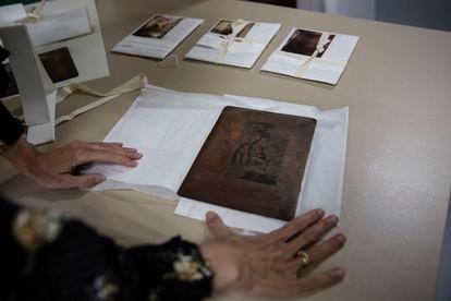Plancha de cobre con la que se imprimió una de las ilustraciones del 'Quijote chico', en 1782.
