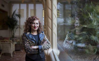 La presidenta de la SGAE, Pilar Jurado, en la sede madrileña de la entidad.