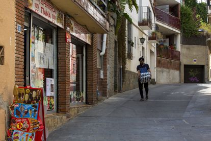 El supermercado donde ocurrieron los hechos por los que un vecino de Tiana (Barcelona) ha sido desterrado de su pueblo.