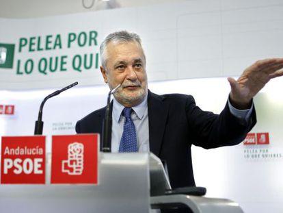 El secretario general del PSOE-A, José Antonio Griñán,.
