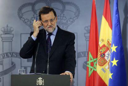 Mariano Rajoy, durante una rueda de prensa del pasado día 5.