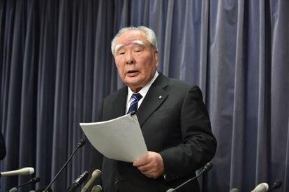 Osamu Suzuki, presidente de Suzuki, en una conferencia en Tokio en 2016.
