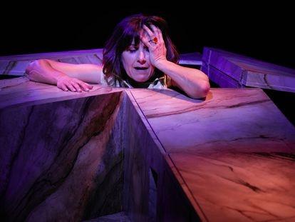 La actriz Ana Rayo presenta 'Despierta', su próximo monólogo en el escenario del Teatro Español.