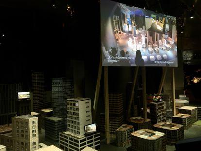 Imagen de la instalación 'Urban Nature', de la compañía alemana Rimini Protokoll, en el CCCB.
