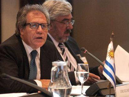 El canciller uruguayo, Luis Almagro, y el embajador ante la OEA, Milton Romani. Archivo