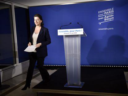 Agnès Buzyn, exministra de Sanidad y candidata en París del partido de Macron en las elecciones municipales del 15 de marzo.