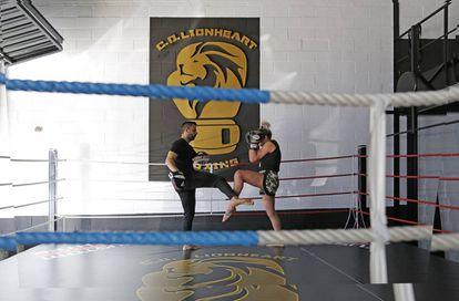 Yohanna Alonso durante un entrenamiento.