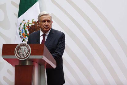 López Obrador, durante la presentación de su plan económico.