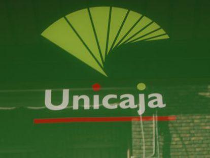 Logotipo de la entidad bancaria Unicaja.