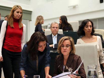 Imagen del grupo municipal del PSOE con la portavoz Purificación Causapié.