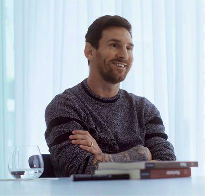 Messi, durante la entrevista con Jordi Évole en La Sexta.
