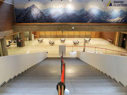El centro de congresos de Davos permanecía el pasado viernes vacío sin la habitual presencia por estas fechas de los miembros del Foro Económico Mundial.