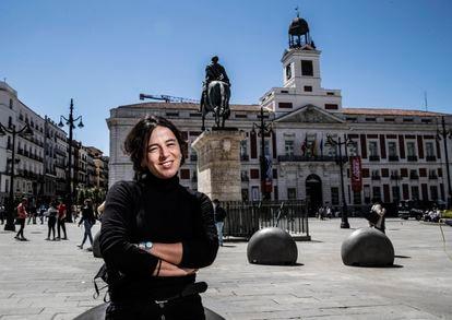 Sofía de Roa, activista del 15-M, el pasado viernes en Sol.