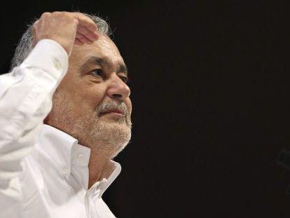 Griñán, durante su intervención en la Convención Municipal del PSOE-A, el día 27.